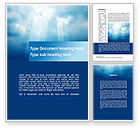 Nature & Environment: Beams Through Clouds Word Template #10102