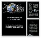 Global: Earth Splash Word Template #10104