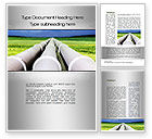 Utilities/Industrial: Pipes Perspective Word Template #10107