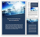 Construction: Business District Word Template #10118