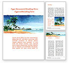 Nature & Environment: Vacation on Ocean Coast Word Template #10139