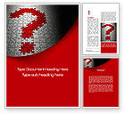 Consulting: Question in Puzzle Word Template #10160