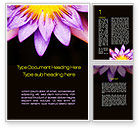 Nature & Environment: Blossoming Flower Word Template #10167