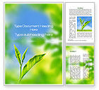 Nature & Environment: Fresh Sprouts Word Template #10174