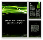 Abstract/Textures: Green on Black Word Template #10184