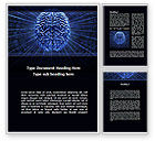 Technology, Science & Computers: Digital Brain Word Template #10212
