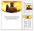 Religious/Spiritual: Buddha Word Template #10221
