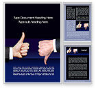 Business Concepts: Judgment Word Template #10233