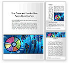 Business Concepts: Worldwide Report Word Template #10252
