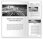 Construction: Monochrome City Word Template #10253