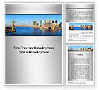 Construction: Brooklyn Bridge Word Template #10267