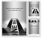 Business Concepts: One Way Arrow Word Template #10287