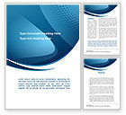 Abstract/Textures: Curved Blue Word Template #10288