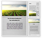 Agriculture and Animals: Agriculture Word Template #10291