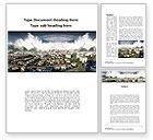 Nature & Environment: Tsunami Word Template #10304
