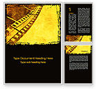 Art & Entertainment: Film Sepia Word Template #10305