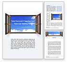 Business Concepts: Open Window Word Template #10314