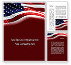Flags/International: Old Glory Word Template #10315