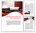 Careers/Industry: Red and White Interior Word Template #10335