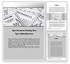 Financial/Accounting: Market Report Word Template #10342