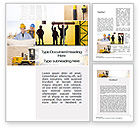 Careers/Industry: Construction Process Word Template #10343
