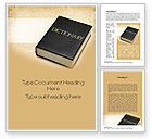 Education & Training: Dictionary Book Word Template #10350