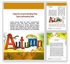 Nature & Environment: 3D Autumn Word Template #10360