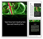 Medical: Human Kidneys Word Template #10363