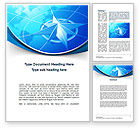 Business Concepts: Wind Rose Word Template #10364