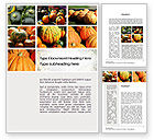 Agriculture and Animals: Pumpkin Word Template #10366