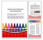 Education & Training: Crayons Word Template #10373