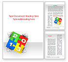 Business Concepts: 2013 ny Puzzle Word Template #10408