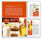 Food & Beverage: Honey Word Template #10433