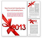 Holiday/Special Occasion: 2013 Gift Word Template #10441