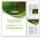 Nature & Environment: Green Water Word Template #10446