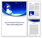 Holiday/Special Occasion: Jolly Snowman Word Template #10465