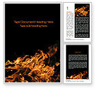 Nature & Environment: Flame Spurts Word Template #10467
