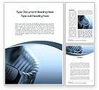 Telecommunication: Handset Word Template #10474