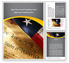 America: USA Declaration of Independence Word Template #10487