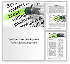 Business Concepts: The Word Trust Word Template #10511