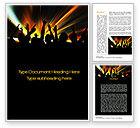 Careers/Industry: Concert Crowd Word Template #10515