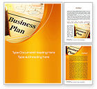 Business: Business Plan Flowchart Word Template #10522