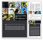 Education & Training: Birds Word Template #10528