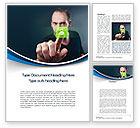 Business Concepts: Touch to Unlock Word Template #10533