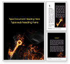 Business Concepts: Fire Key Word Template #10539