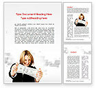 Financial/Accounting: Happy Winner Word Template #10540