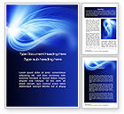Abstract/Textures: Blue Plume Word Template #10541