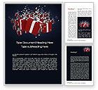 Holiday/Special Occasion: Gift Boxes Word Template #10554