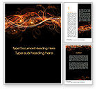 Abstract/Textures: Fire Flowers Word Template #10568