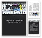 Careers/Industry: Print Word Template #10574